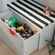 "SMÅSTAD banco con almacenaje para juguetes,35 3/8 ""x19 5/8 ""x18 7/8 """