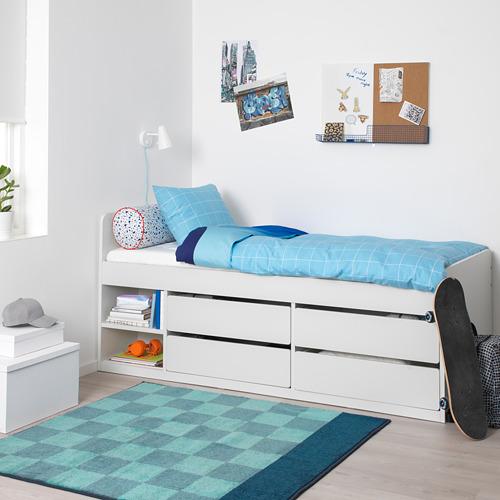 SLÄKT estructura cama con 4 gavetas y base cama tablillas, twin