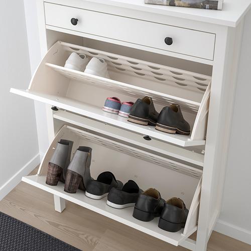 """HEMNES armario zapatos con 2 compartimientos, 35""""x11 3/4 """"x50"""""""