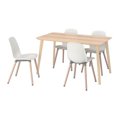 """SVENBERTIL/LISABO mesa con 4 sillas, longitud de la mesa 55 1/8 """""""
