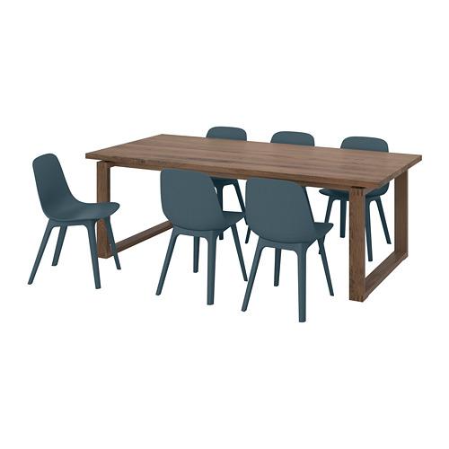"""ODGER/MÖRBYLÅNGA mesa con 6 sillas, longitud de la mesa 86 5/8"""""""