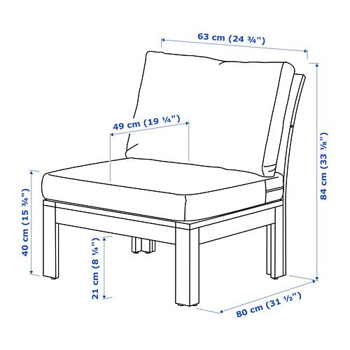 ÄPPLARÖ chair, outdoor