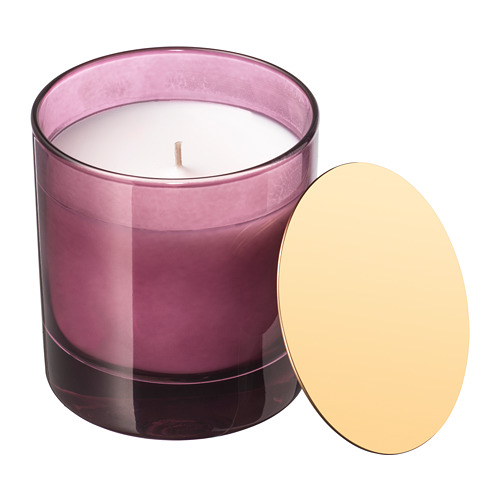 NJUTNING vela perfumada en vidrio