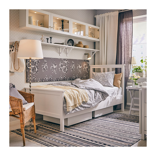 HEMNES Twin bed frame with Luröy slatted