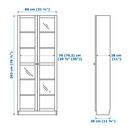 BILLY librero con puertas de vidrio