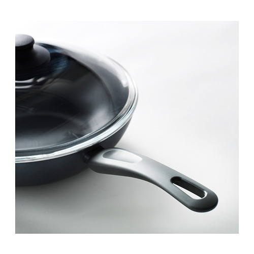 HEMLAGAD wok with lid