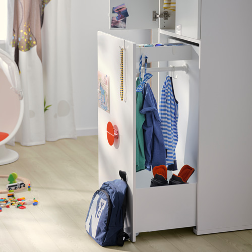 SMÅSTAD wardrobe with pull-out unit