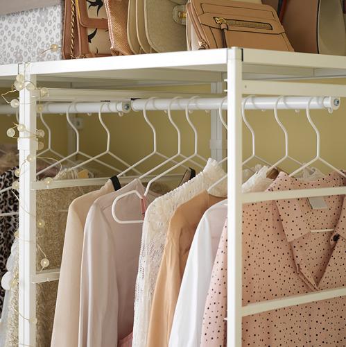 JONAXEL estantería+riel para ropa