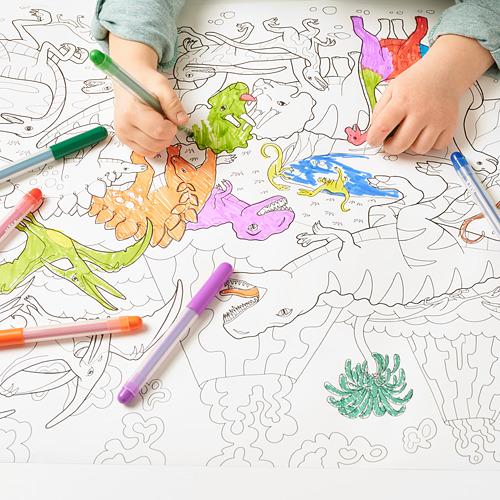 JÄTTELIK rollo de papel colorear