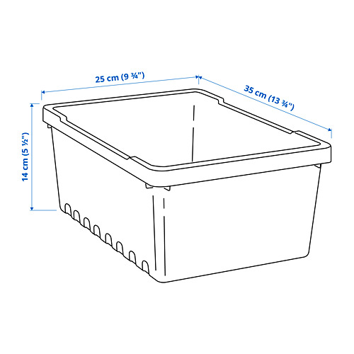 UPPSNOFSAD storage box