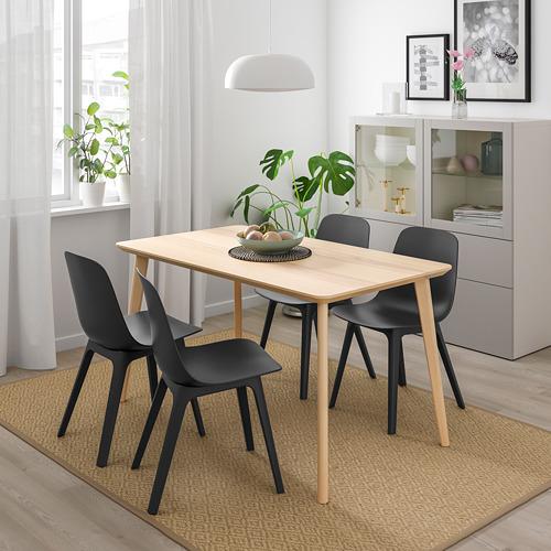 "ODGER/LISABO mesa con 4 sillas, longitud de la mesa 55 1/8"""
