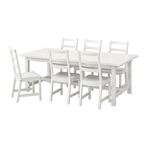 """NORDVIKEN/NORDVIKEN mesa extensible con 6 sillas, máximo extensión 113 3/4 """""""