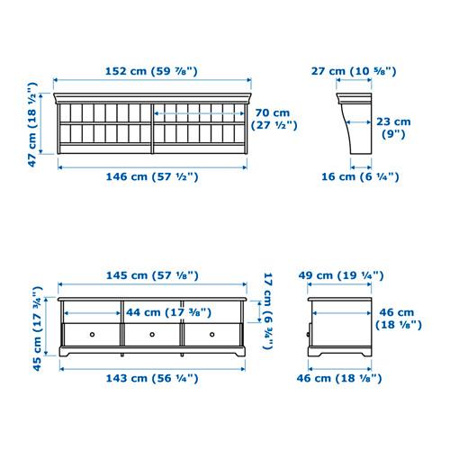LIATORP TV storage combination