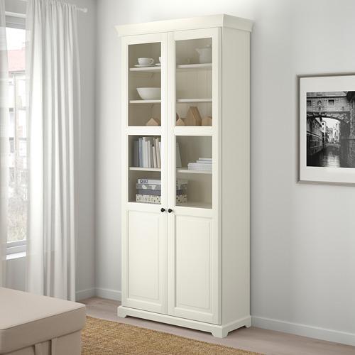 LIATORP librero con puertas de vidrio