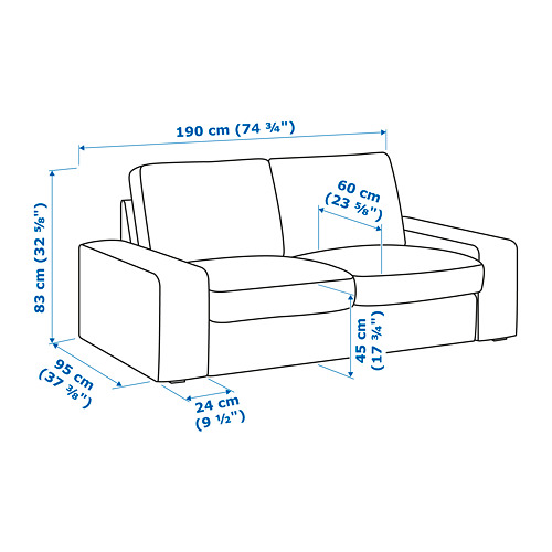 KIVIK sofá 2 plazas