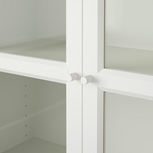 BILLY/OXBERG librero con panel/puertas vidrio