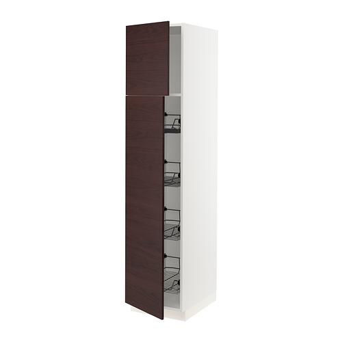 SEKTION armario alto+puerta/canastas almbr