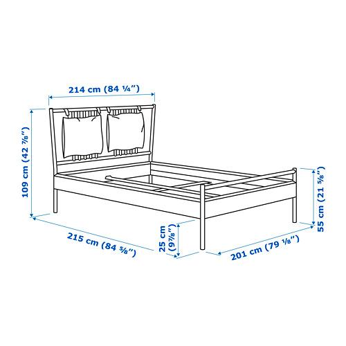 BJÖRKSNÄS estructura de cama, king