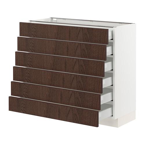 SEKTION/MAXIMERA base cabinet/6 fronts/6 low drawers