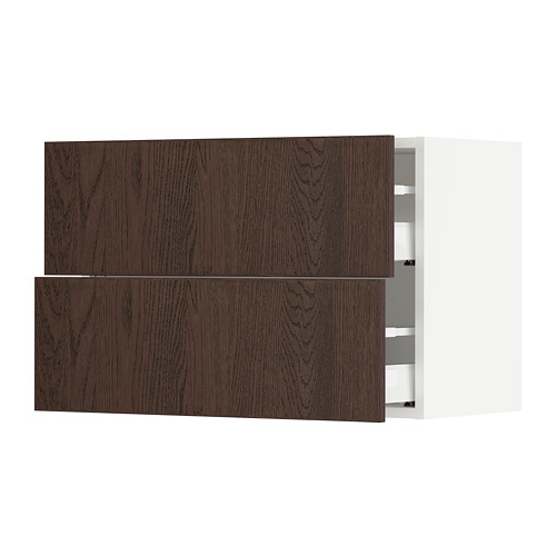 SEKTION/MAXIMERA wall cabinet with 2 drawers