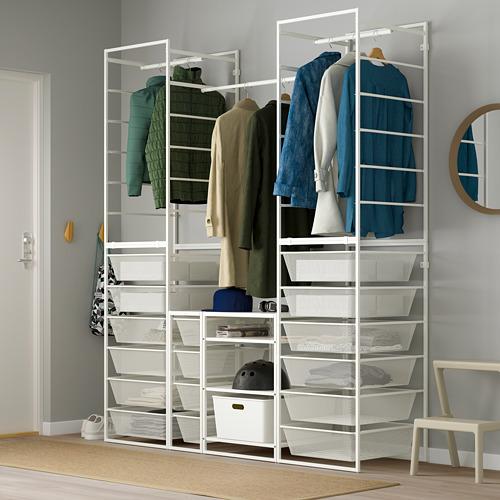 JONAXEL estructura+canastas de rejilla estrecha+riel de ropa+estantes