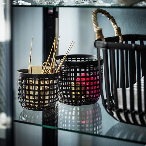 LUSTIGKURRE basket, set of 2