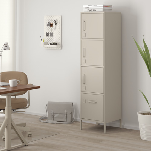 IDÅSEN high cabinet with drawer and doors