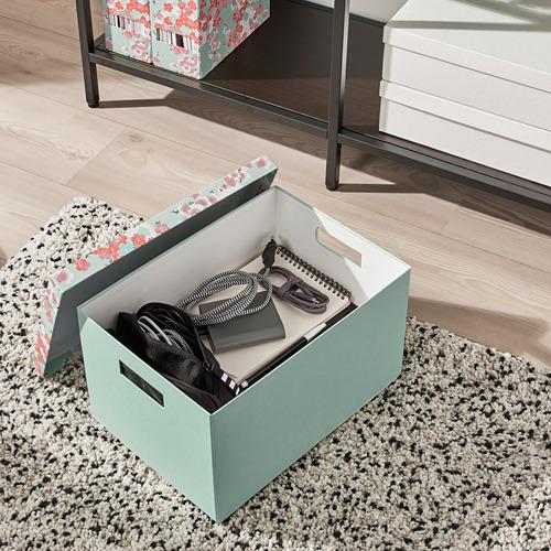 TJENA storage box with lid