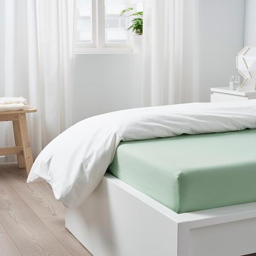 DVALA sábana ajustable, 152 hilos, full