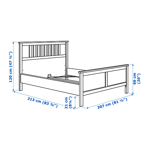 HEMNES Cama King + tablillas Luröy