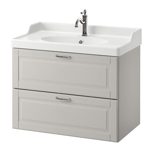 GODMORGON/RÄTTVIKEN armario para lavamanos con 2 gavetas, juego de 2
