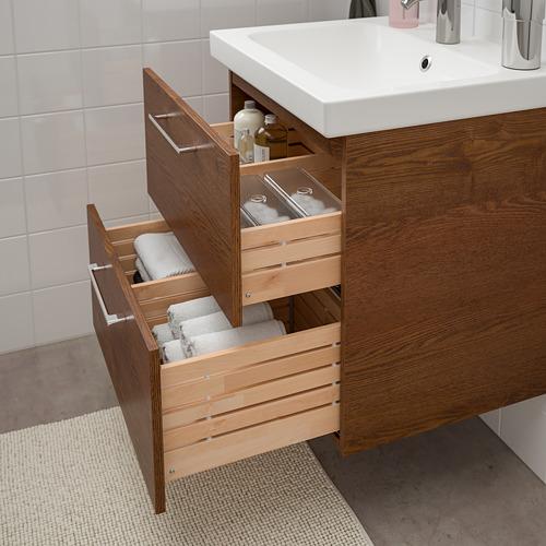 ODENSVIK/GODMORGON armario para lavamanos con 2 gavetas, juego de 3