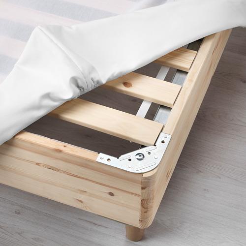 ESPEVÄR base de cama con tablillas y funda blanca. twin