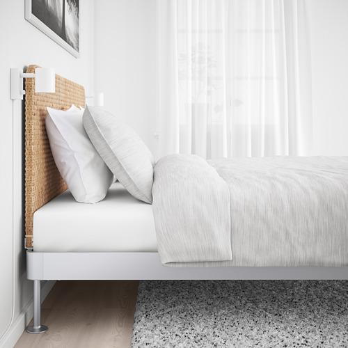 DELAKTIG estructura de cama con espaldar, queen