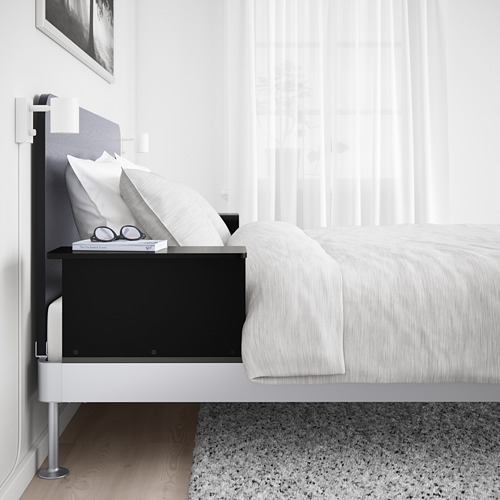 DELAKTIG bed frame/headboard/2 side tables