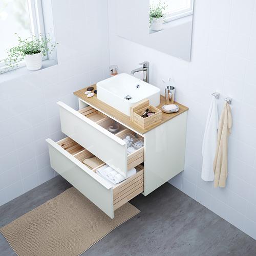 "HÖRVIK/GODMORGON/TOLKEN arm, encm+lavamanos 17 3/4x12 2/8"""