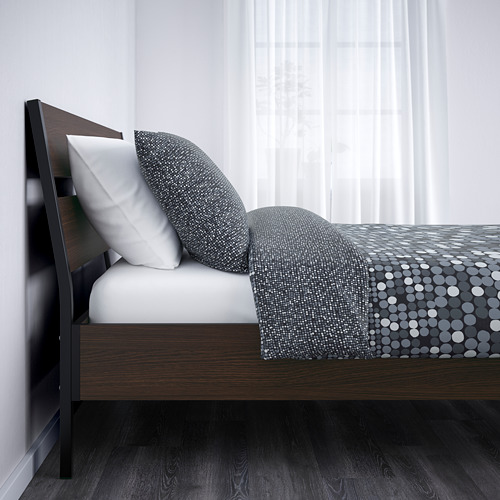 TRYSIL Queen bed with Luröy slatted