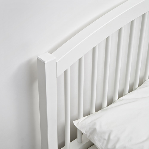 TYSSEDAL King bed with Luröy slatted