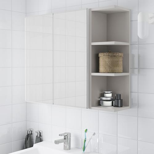 LILLÅNGEN armario  de pared con 2 puertas de espejo y 1 estante