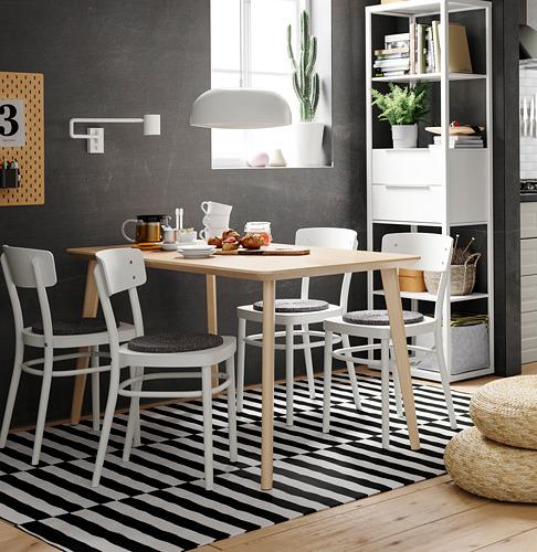 IDOLF/LISABO mesa con 4 sillas