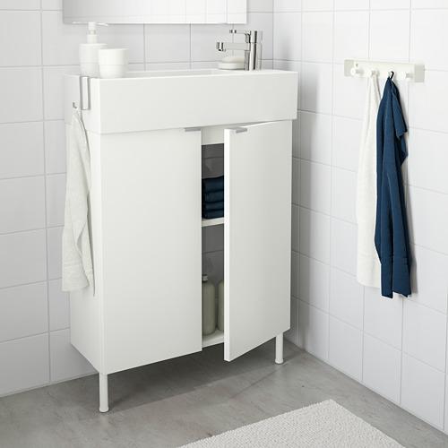 LILLÅNGEN armario para lavamanos con 2 puertas, juego de 3