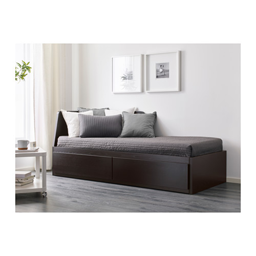 FLEKKE daybed with 2 drawers/2 mattresses