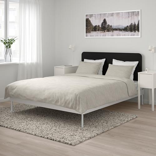 DELAKTIG bed frame with headboard