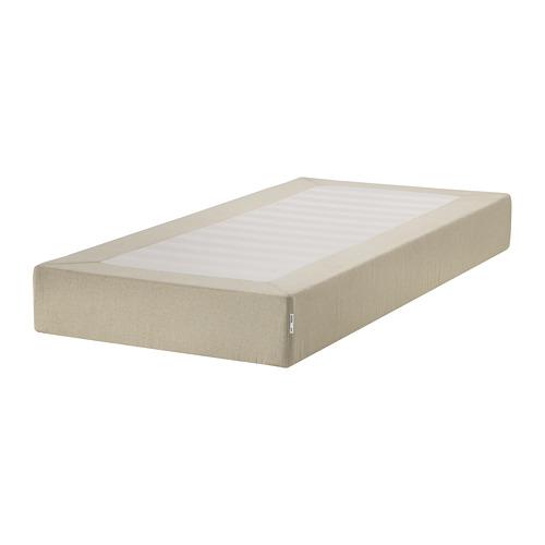 ESPEVÄR base de cama con tablillas y funda natural, twin