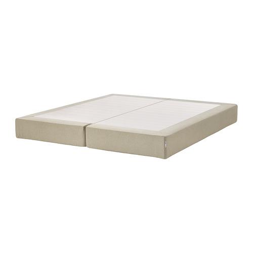 ESPEVÄR base de cama con tablillas y funda natural, king
