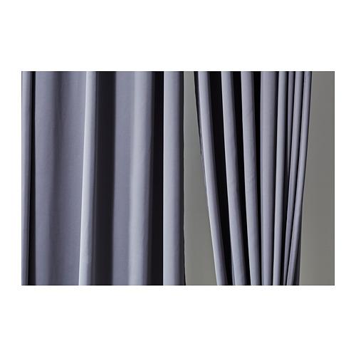 HILLEBORG cortinas opacas, 1 par