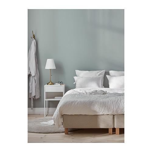 ESPEVÄR base de colchón con tablillas, patas, funda natural y colchón, king