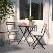 TÄRNÖ mesa+2 sillas para exterior y 2 cojines