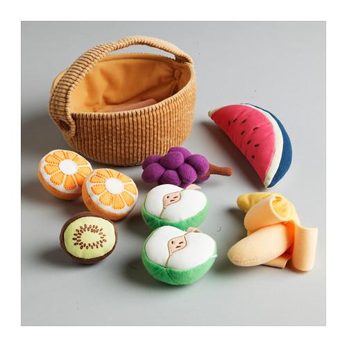 DUKTIG canasta de frutas, 9 piezas