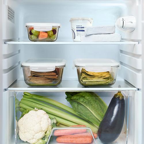 """LAGAN nevera+compartimiento congelador, 21 1/4 """"x23 """"x33 7/8 """""""